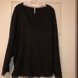Free People Sweaters - Free People Black V Neck Sweater